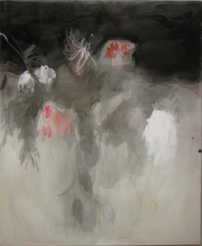 Rowans, 2012. Ink, acrylic, charcoal, oil, pastel, canvas, 90 cm x 81 cm. Private collection.