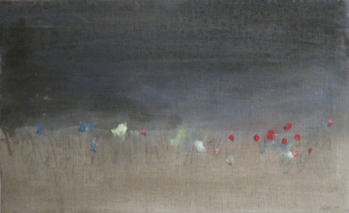 Swamp Flowers, 2011. Acrylic and oil on canvas. 35 x 56 cm.